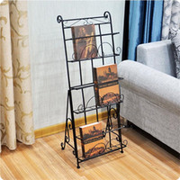 3 Pocket Metal Iron Pieghevole Magazine Rack Stand Display Letteratura Rack Giornale Rack Book Shelf Poster Stand ZA4634