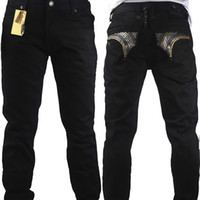 Wholesale Hot Sell Men Jeans - Sell like hot cakes robin jeans men crystal straight with high fashion designer famous brand size32-42