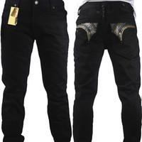 ingrosso torta di jeans-Vendi come torte calde robin jeans uomo cristallo dritto con stilista di alta moda marca famosa size32-42