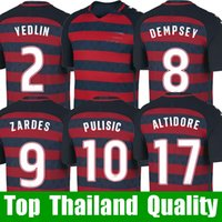 Wholesale National Jerseys - Thailand PULISIC USA soccer jerseys Gold cup 2017 2018 United states national jersey 17 18 PULISIC YEDLIN BRADLEY ALTIDORE fooball shirt