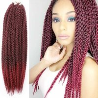 Wholesale 3d Crochet - 3D Cubic Twist Crochet Braids 120g 22inch Synthetic braiding hair Afri Naptural Ombre Havana Mambo Senegalese Twist Hair Extensions