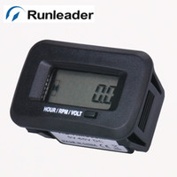 Wholesale Waterproof Tach Hour Meter - Wholesale-Waterproof Agrigarden machines tach Hour Meter Tachometer voltmeter voltage gauge For sprayers vehicles tractor baler compressor