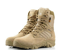 Wholesale Military Boot Male - Delta Brand Military Tactical Boots Desert Combat Outdoor Army Hiking shoes Travel Botas Shoes Leather Autumn Male Ankle Boots