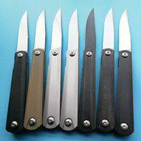 Wholesale Knife Survival Tools - Zebra 9Cr8Mov Blade Electrocardiogram ECG ZDP189 Folding Knife Camping Hunting Survival Pocket Knives Military Outdoor Knife EDC Tools