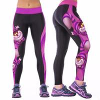 Wholesale Womens Stretch Black Pants - Wholesale-2016 Sexy Womens YOGA Workout Gym Digital Printing Sport Broek Fitness Stretch Broek Nieuwe Aankomst