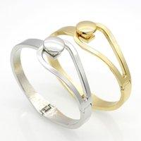 Wholesale Simple Elegant Gold Bangle - 2015 New Design Gold & Silver Plated Elasticity Bracelets & Bangles Simple Elegant Fashion Women Open Bangle