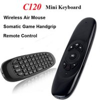 Wholesale Air Mouse Gyro Keyboard - 2.4GHz G Mouse II C120 Air Mouse T10 Rechargeable Wireless GYRO Air Fly Mouse Keyboard for S905X S912 X96 Android TV Box