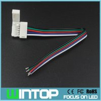 Wholesale 15cm Led Strip - 5Pin 15cm RGBW LED Connector Wire Extension Cable for SMD5050 RGBW RGBWW Color Led Strip Light