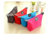 Fabric Pencil Bag Yes Wholesale-[YYYYAAAA] Creative new high-end cosmetics Korea Desktop portable storage container toilet articles stroke