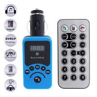 handy-flash-player großhandel-Drahtlose Freisprecheinrichtung FM Transmitter Auto Bluetooth MP3 Player USB-Anschlüsse Autoladegeräte TF USB Flash Disk mit Fernbedienung für Autos CAU_