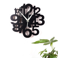 Wholesale 3d Number Design - New 2016 Bird Large Number Wall Art Clock Modern Design 3D Crystal Mirror Wall Watches Home Decoration Living Room Decal