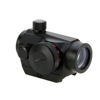 Wholesale Hunting Red Dot - Mountable to 20mm rail Durable Hunting Optics Tactical Mini 1X22 Red Green Dot Sight Riflescope Scope Reflex Lens Y1809