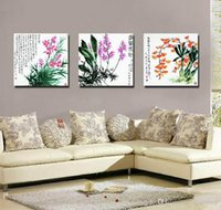 Wholesale chinese square art resale online - Feng Shui Wall Art Canvas Hd Print Home Decorative Zen Picture Modern Chinese Words Set30267