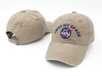 Wholesale gold meat - SLEEP FOREVER cap rare I NEED MY SPACE NASA Meat Ball 6 god Embroidered Cotton dad hat snapback Baseball cap 8 Colors FREE SHIP casquette
