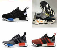 Wholesale Men Running Shoes Wave - NMD R1 Casual Men Shoes Kanye West Boost Wave Runner 700 Boost Mens Women boost 700 Sports Running Sneakers Shoes