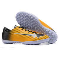 Wholesale Cheap Boots For Kids - Cheap Hypervenom Phelon III AG Kids Soccer Shoes Online Youth Children Mercurial Victory XI TF Soccer Cleats Womens Soccer Boots For Sale