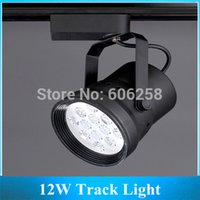 Wholesale Showcase Tracking Light - Wholesale-12W LED Track Light , Showcase Lamp   Iron Case Commercial Lighting ,12*1w LED Track Spotlight 10PCS