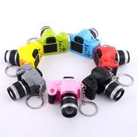 Wholesale wholesale bags old keys online - Simulation of SLR camera key pendant LED light sound Keychain bags ornaments Keychain small gifts