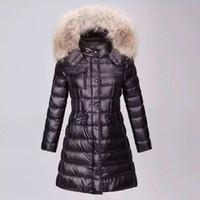 Wholesale Winter Parka Fur Hood - M99 HERMIFUR Brand Jacket parkas for women winter long jackets anorak woman coats with real raccoon fur hood parka luxury jackets