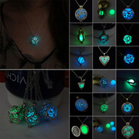 Wholesale Steampunk Lockets - New Fashion Steampunk Pretty Magic Fairy Locket Necklace Glow In The Dark Necklaces & Pendants Accessories For Women