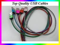 cabos de cores usb para android venda por atacado-1 M 3ft Mix Color padrão de cobra trançado tecido micro usb2.0 cabo de sincronização de dados micro usb cabo para android xiaomi