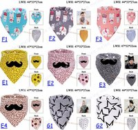 Wholesale Pink Black Skulls Baby - INS Baby Waterproof Bibs Bandana 100% Cotton High Quality Babadores Para Bebe Infant Saliva Towel For Boys And Girls 40style choose freely
