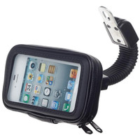 iphone gps kılıfı toptan satış-Su geçirmez Motosiklet Kılıfı Çanta Araba Motor GPS Navigasyon Cep Telefonu Tutucu iPhone X 8 7 6 S Artı için Standı