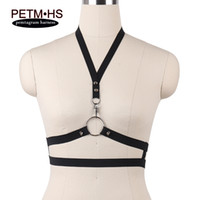Wholesale Exotic Fashion Rings - Sexy Halter Bondage Harness O- Ring Spiked Rivet Silver Clip Harness Strappy Lingerie women fashion body harness crop top exotic hollow