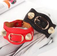 Wholesale Candy Charms For Bracelets - NEW mens womens Punk Style rivet Bangles candy multicolour Women strap rivet lock bracelet Super Style for gift