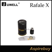 Espalda Activa Baratos-Uwell Rafale X RDA Tanque 24mm Sistema de Poste Neutro Active Dos Post Design Anti-Spit Back Drip Tip Flujo de Aire Variable Latón 510 Pin 100% Genius