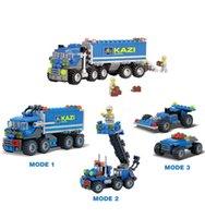 Wholesale Kazi Educational Kids Building Blocks - 2017 New 163PCS KAZI 6409 Truck Building Blocks Compatible With Citys Car Brick Educational Toys For Kids Birthday Gift Brinquedo