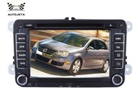 Wholesale Stereo Dvd Vw Golf - 4UI intereface combined in one system CAR DVD PLAYER FOR 2 Din 7 Inch VW Volkswagen Passat POLO GOLF Skoda Seat USB GPS BT RADIO tv RDS