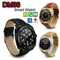 Wholesale Golden Shake - 2016 New DM88 Smart Watch Bluetooth Heart Rate Monitor Pedometer Shake Control Waterproof Life Bracelet Smartwatch for Android IOS Phones