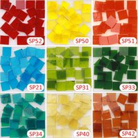 Wholesale X 135 - 200gram 135 pcs 15 X 15mm 9 16 inch Stained Glass Tile, Mosaic Hobbies, Mini Loose Tiffany Glass Pieces, tesserae Stained glass