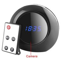 Wholesale Multi Function Clock Camera - 16GB Multi Function Alarm Clock Cam 1280X960 Spy Clock Camera Audio Video Recorder Camcorder Motion Detection DVR 140° View Security Camera