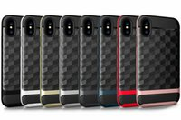 Wholesale Heavy Duty Hybrid Shock - new hotselling hybrid rugged rubber armor combo anti-shock case cover skin for iPhone X heavy duty fashion case