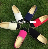 Wholesale Design Espadrilles - Top Design Canvas Denim Classic Genuine Leather Thick Sole Espadrilles Women's Shoes 6 colors size 35-42