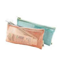 Wholesale Mummy Pouch - 200pcs Travel Nylon Mesh Zipper Wallet Case Cosmetic Makeup Baby Mummy Bag Portable Storage Pouch Make Up Tool Organizer ZA0839