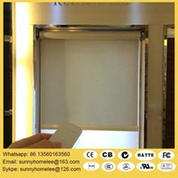 Wholesale 1 m width m heigh Motorized roller blindS with wireless remote control wall switch size customed