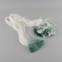 Wholesale Gill Net Monofilament - 25m Clear Monofilament White Green Fishing Fish Gill Net with Float F00104 SPDH