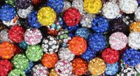 Wholesale multi shamballa bracelet - free shipping 10mm 200pcs lot mixed multi color Crystal Shamballa Bead Bracelet Necklace Beads.Hot spacer beads Lot!Rhinestone DIY spacer