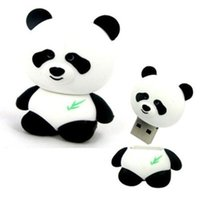 Wholesale Panda Sticks - 8GB 4GB 2GB 16GB Cute Panda model USB 2.0 Flash Memory Stick Pen Drive High Qualtiy