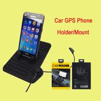 Universal Silicone ajustável antiderrapantes GPS Car Telefone Tablet Stand / Titular / Mount Micro porta USB 2 em 1 conector para iphone DHL gratuito OTH239