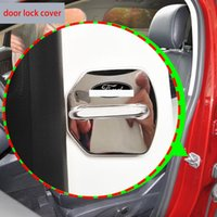 Wholesale Door Lock Protection Cover - High Quality Stainless Steel Car Door Lock Protection Cover For Ford KUGA EDGE FOCUS Fiesta Taurus Everest