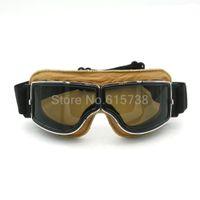 Wholesale Vintage Dustproof - motorcycle goggles vintage Outdoor Sport Windproof Glasses Cross country Goggles Dustproof