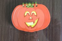 Wholesale 10 cm halloween notepads pumpkin shape small notepad sheets for kid gift office