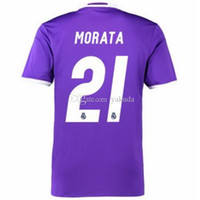 Wholesale Madrid Away - Final Cardiff 2017 Soccer Jerseys,Real Madrid Purple Away #7 Ronaldo Soccer Jerseys With Champions Patches World champions Patch