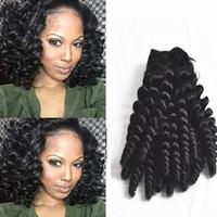 mejor pelo humano rizo brasileño al por mayor-La mejor calidad 8A tía Funmi extensiones de cabello, cabello humano brasileño Curl espiral color natural doble Bouny hinchados rizos teje cabello