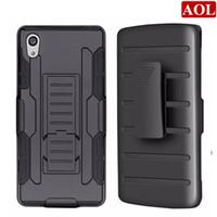 будущие телефоны оптовых-Для Sony Xperia M4 Aqua E2306 Z5 E6603 E6633 Future Armor 3in1 гибридный жесткий чехол для телефона + зажим для ремня Кобура Kickstand Combo