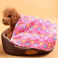 Wholesale Thermal Cat Mat - New Design Lovely Pet Blanket Warm Thermal Dog Cat Beds Mats Puppy Soft Coral Fleece Sleeping Cover Pet Supplies JJ0156
